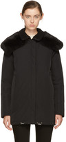 Moncler Black Down & Fur Agapanthus Jacket