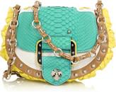 Versace Block-color python bag