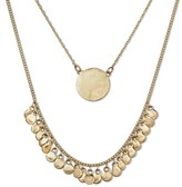 Women's Worn 2-Layer Necklace - Gold