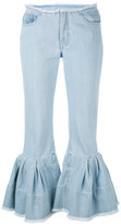 Marques Almeida Marques'almeida - flared cuff jeans - women - Cotton - 6