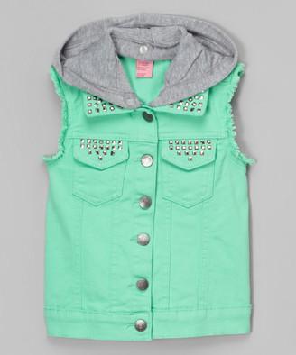 Cutie's Fashions Girls' Outerwear Vests MINT - Mint Convertible Vest - Girls