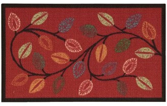"Waverly Fancy and Free Floral Red Area Rug Rug Size: Rectangle 1'8"" x 2'10"""