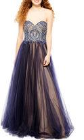 GLAMOUR BY TERANI COUTURE Glamour By Terani Couture Sleeveless Beaded Ball Gown-Juniors