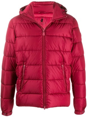 Save The Duck quilted zip-front jacket