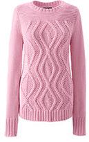 Classic Women's Drifter Cotton Cable Sweater-Wax Flower