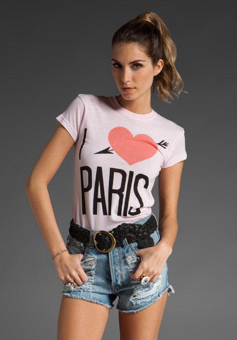 Wildfox Couture I Love Paris Mini T