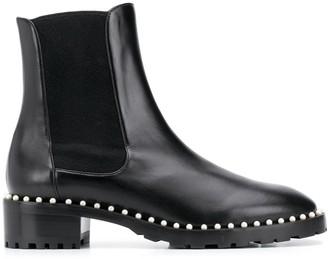 Stuart Weitzman Pearl Embellished Boots