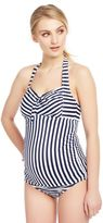Tie Detail Striped Maternity Tankini Swimsuit