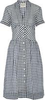 Sea Gingham cotton-blend gauze midi dress