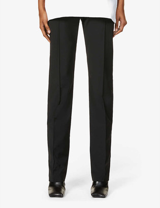 Alyx Buckle-embellished straight high-rise woven trousers