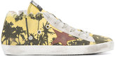 Golden Goose Deluxe Brand palm tree print sneakers - women - Cotton/rubber - 36
