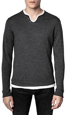Zadig & Voltaire Monastir Merino Wool Henley Sweater