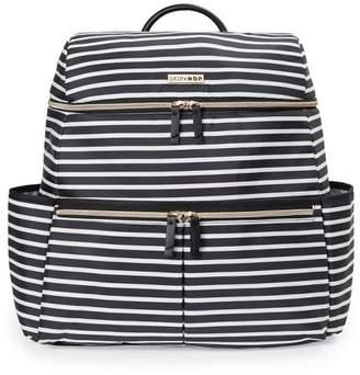 Skip Hop Flatiron Black and White Stripe Diaper Bag Backpack