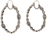 Zoe Women's Mixed-Diamond Hoop Earrings