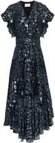 Thumbnail for your product : BA&SH Grace Leopard-print Metallic Fil Coupe Dress