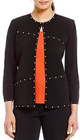 Ming Wang Stud Trimmed Jacket