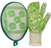 Dupont G & F G & F Nomex Heat Resistant Fiber Exclusive 3 Finger Oven Gloves Set