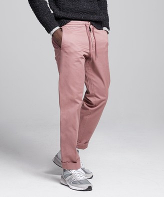 Todd Snyder Stretch Drawstring Twill Jogger in Mauve