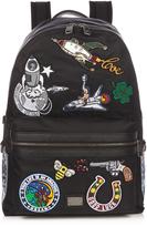 Dolce & Gabbana Patch-appliqué nylon backpack