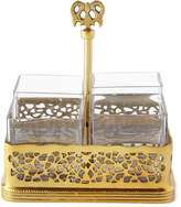 Godinger Gold-Tone Pierced Flatware Caddy