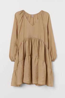 H&M H&M+ A-line Dress - Beige