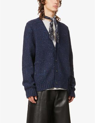 Maison Margiela Laddered wool-blend cardigan
