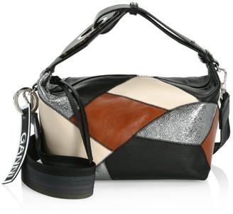 Ganni Patchwork Leather Hobo Bag