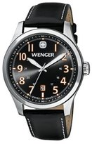Wenger 0541.104 Men's Terragraph Orange Accents Dial Brown Leather Strap Watch