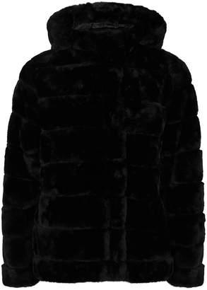Samsoe & Samsoe Samse & Samse Saba Black Hooded Faux Fur Jacket