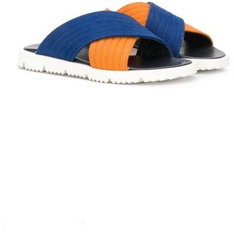 Marni TEEN cross strap sandals