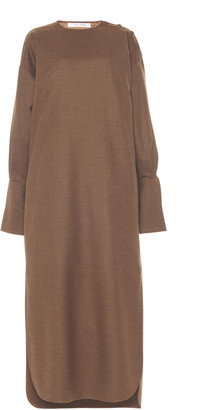 Max Mara Venusia Oversized Wool Midi Shirt Dress