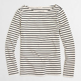 J.Crew Factory Long-sleeve striped boatneck T-shirt