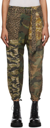 R 13 Multicolor Camo Utility Drop Trousers