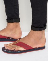 Tommy Hilfiger Floyd Multi Logo Flip Flops