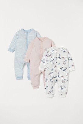 H&M 3-pack Cotton Pajamas - Pink