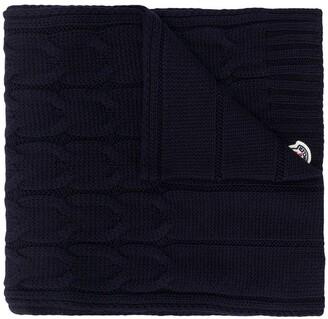 Moncler Enfant Logo-Patch Cable Knit Scarf
