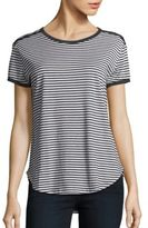 C&C California Edie Contrast Trim Striped Top