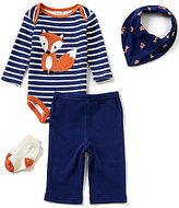 Starting Out Baby Boys Newborn-9 Months Fox Striped 4-Piece Layette Set