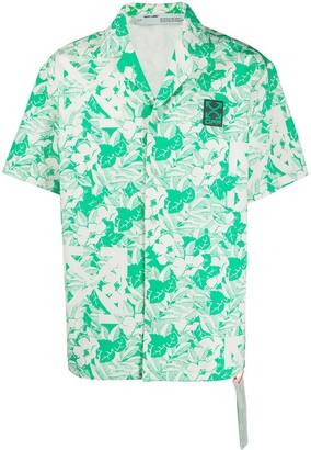Off-White Leaf-Print Shirt