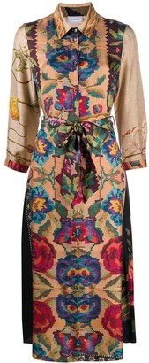 Pierre Louis Mascia Floral Embroidered Shirt Dress