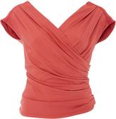 Paule Ka Jersey Cold Shoulder Ruched Top
