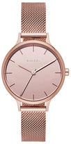 Skagen Anita Rose Goldtone Stainless Steel Mesh Strap Watch, SKW2413