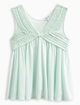 Splendid Girl V Neck Tank with Lace Trim