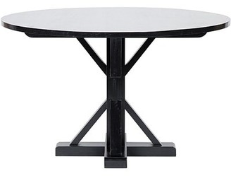 """Noir Criss-Cross Round Dining Table Size: 30"""" H x 48"""" W x 48"""" D"""