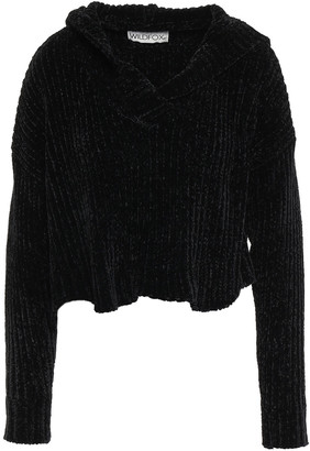 Wildfox Couture Cropped Ribbed Chenille Hoodie