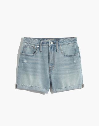 Madewell Curvy High-Rise Denim Shorts in Cantrell Wash: TENCEL Lyocell Edition