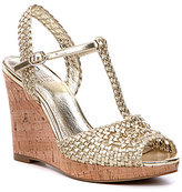 Adrianna Papell Franklin Metallic Woven Wedges