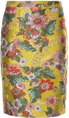 Andrew Gn floral pattern fitted skirt