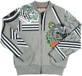 Kenzo Tiger Logo Cotton Zip-Up Sweatshirt