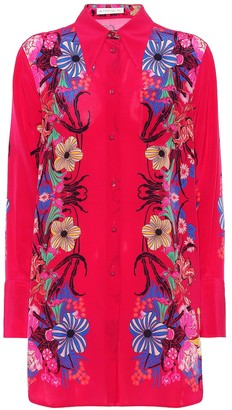 Etro Floral silk tunic blouse